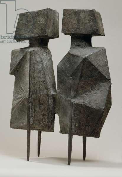 Maquette XI Two Watchers V, 1967 (bronze)