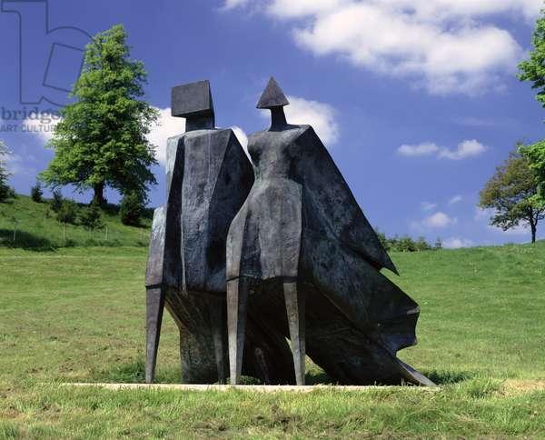 Pair of Walking Figures - Jubilee, 1977 (bronze)