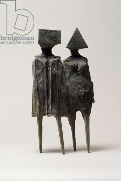 Maquette VI Walking Couple, 1976 (bronze)