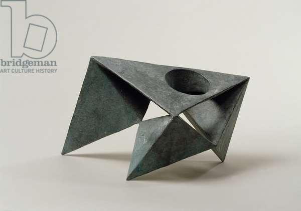 Pyramids VII, 1965 (bronze)