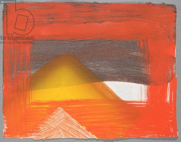 Untitled (hand-coloured screenprint)