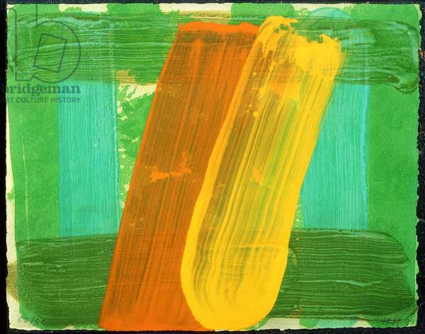 Summer, 1997 (carborundum etching with hand colouring)