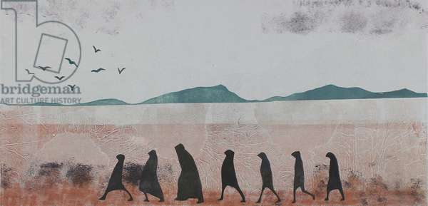 Travellers in Dust, 2020 (mono-print paper)