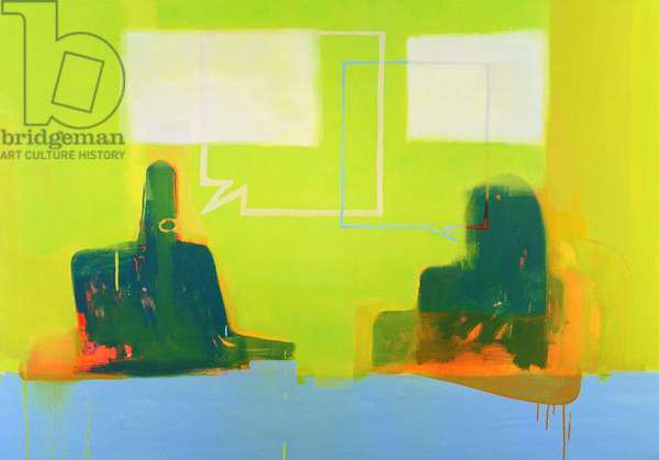 Dialogue (acrylic on canvas)