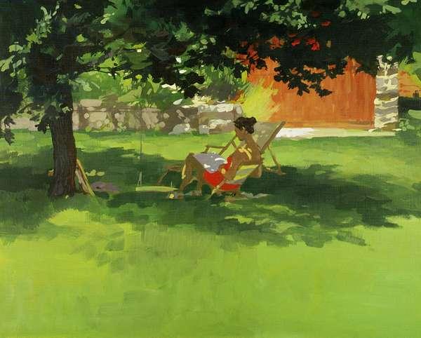 Reader (acrylic on canvas)