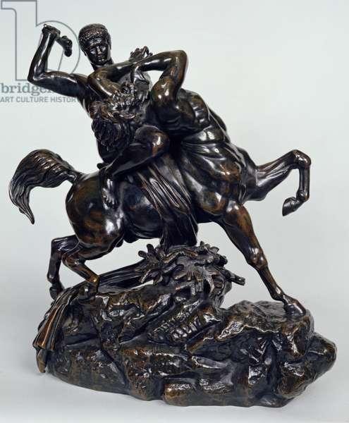 Theseus Slaying the Centaur Bienor, 1850 (bronze)