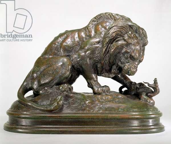 Lion and Serpent, 1833 (bronze)