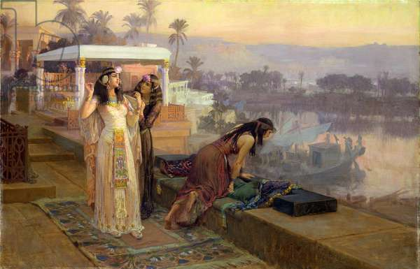 Cleopatra (69-30 BC) on the Terraces of Philae, 1896 (oil on canvas)