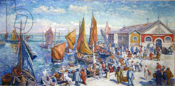The Croisic, The Fishmarket, 1925 (oil on canvas)