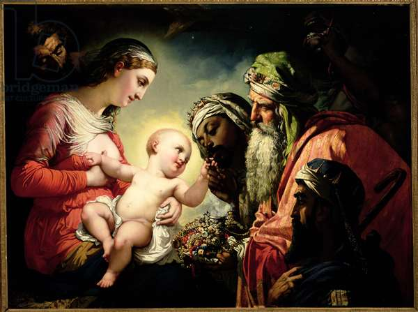 Adoration of the Magi, 1854 (oil on canvas)