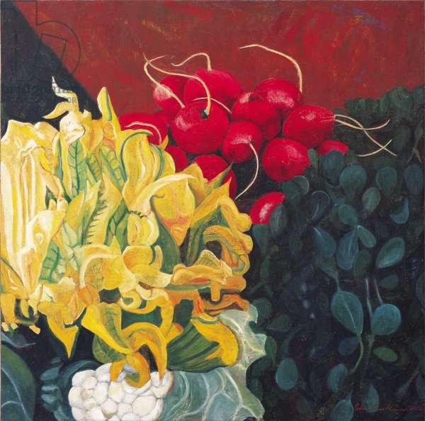 Pumpkin blossom, 2002 (oil on linen)