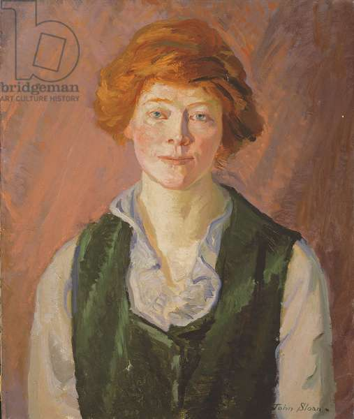 Green Vest (Jennie Doyle) 1914-15 (oil on canvas)