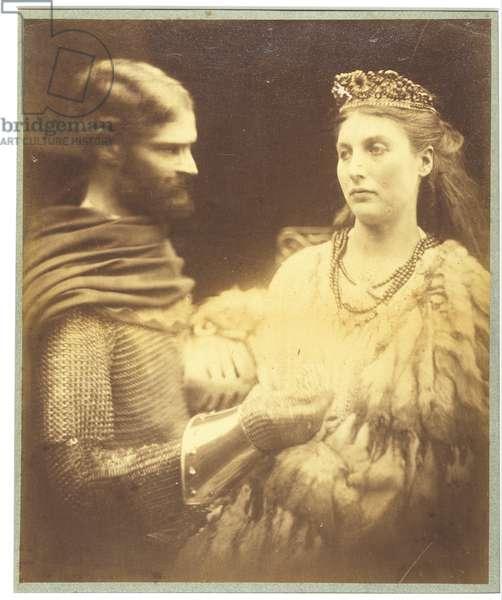 Lancelot and Guinevere, c.1873 (silver gelatin print)