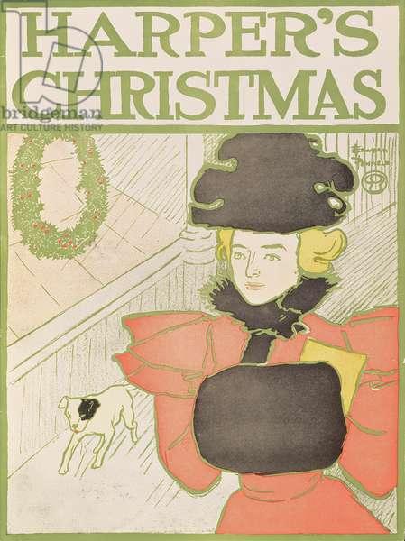 Harper's Christmas, 1890 (colour litho)