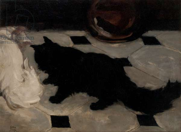 Green's Cats, 1900 (oil on canvas)
