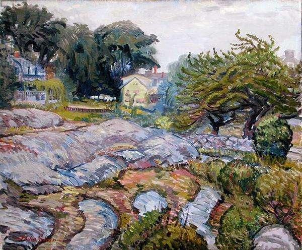 Apple Tree and Rocks, 1914 (oil on canvas)