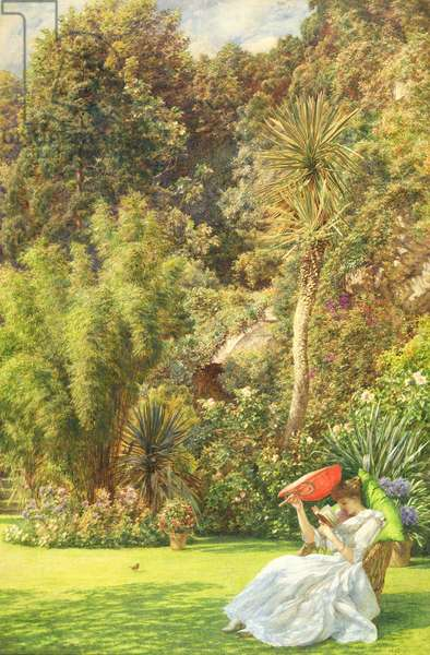 In a Garden, 1891 (w/c on paper laid down on canvas)