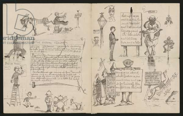 Illustrated letter from Maxfield Parrish to Henry Bancroft, London, July 22, 1884 (ink on paper)
