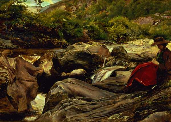 The Waterfall, 1853 (oil on panel)