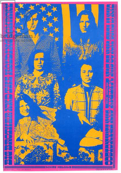 Rock concert poster for Big Brother Holding Company, at The Matrix, San Francisco, January 22, 1967 (colour litho)