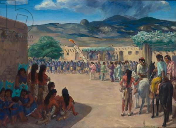 Dance at the Cochiti Pueblo, New Mexico, 1922 (oil on canvas)