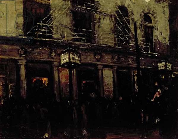 Walnut Street Theater, Philadelphia, 1900 (oil on canvas)