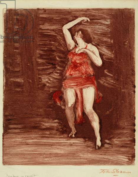 Isadora in Revolt, c.1915 (monotype on paper)