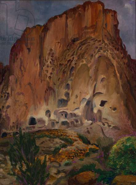 Cliff Dwellings, Parajeto, 1922 (oil on canvas)