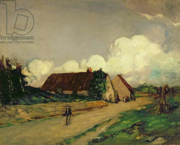 Old Brittany Farm Houses, 1902 (oil on canvas)