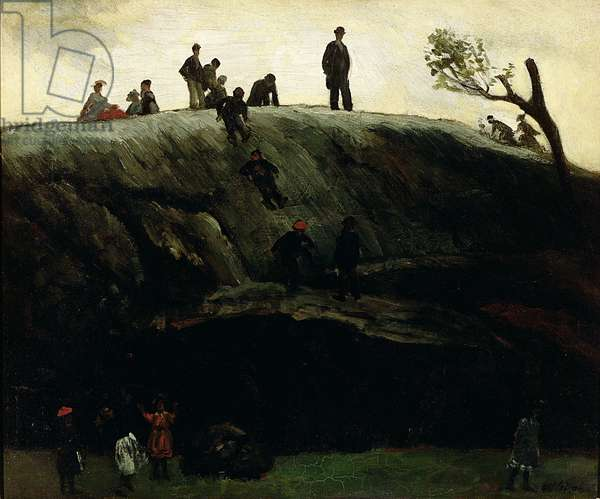 Boys Sliding, c.1897 (oil on canvas)