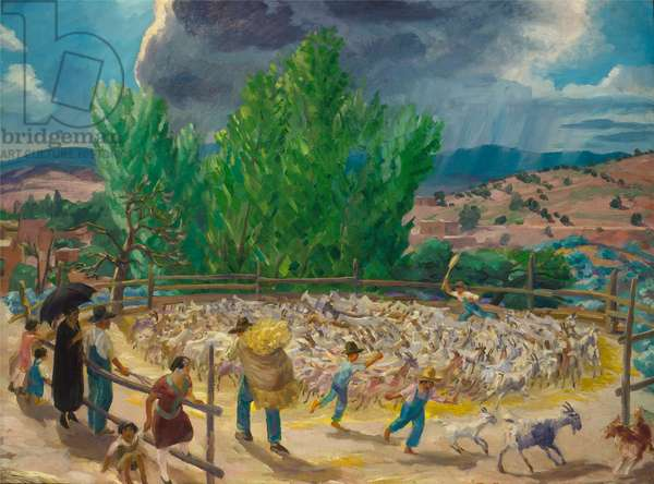 Threshing Floor, Santa Fe, 1924 (oil on canvas)