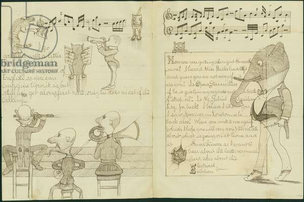 Illustrated Letters to Henry Bancroft (pencil with pen & ink on paper)