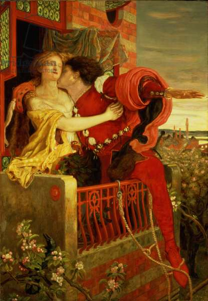 Romeo and Juliet, 1870 (oil on canvas)