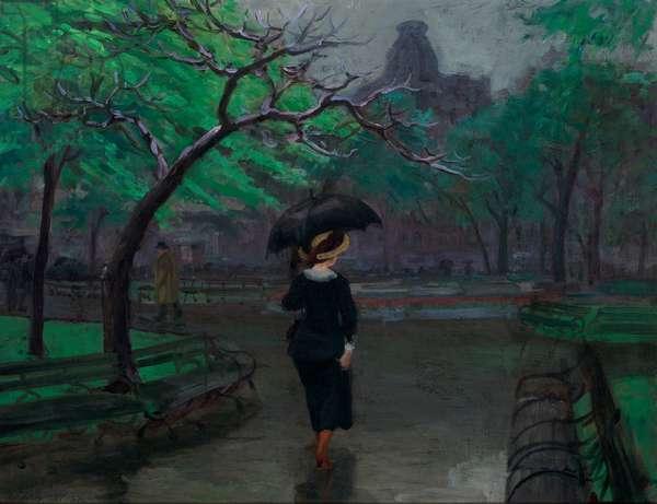 Spring Rain, New York, 1912 (oil on canvas)