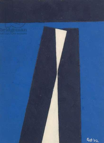 White Thrust, 2002 (oil on card)