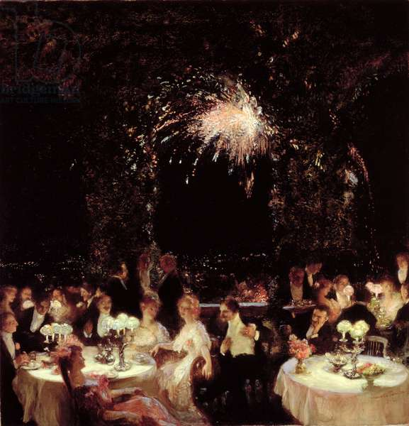 Dinner at the Casino, c.1906 (oil on canvas)