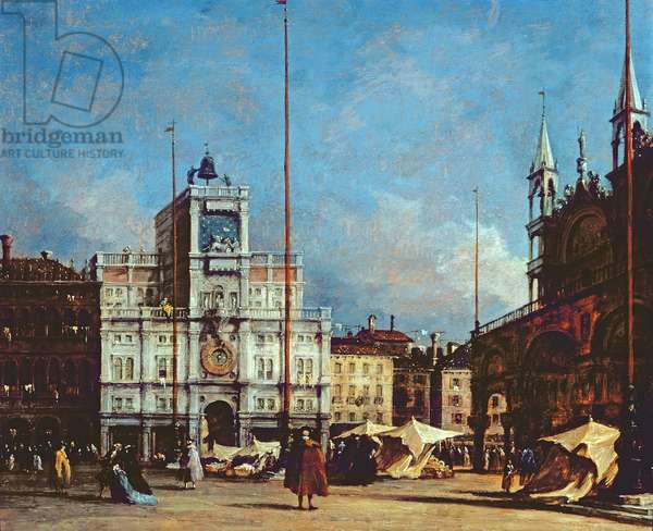 The Clock Tower, Venice, c.1760 (oil on panel)