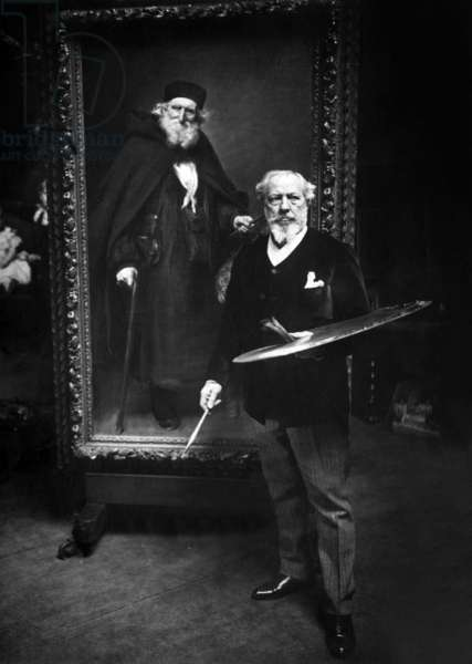 Painter Charles Émile Auguste Durand said Carolus Duran (1837-1917) in his studio