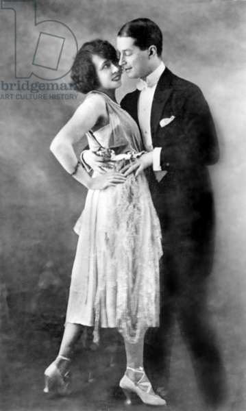 Maurice Chevalier and Mistinguett in 1920, before their separation in the 20's (they were lovers since 1911)