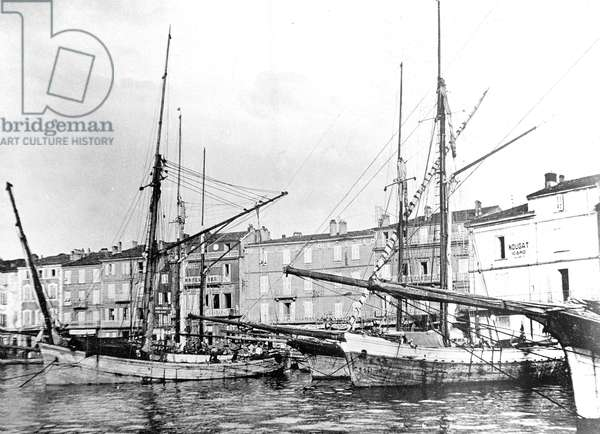 View of the harbour of Saint Tropez on the Riviera south of France c. 1900