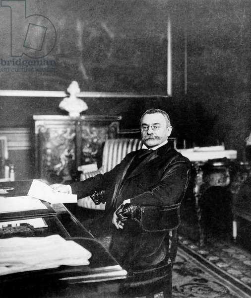 Theophile Delcasse (1852-1923) French minister of foreign affairs (1898-1905), here in 1910