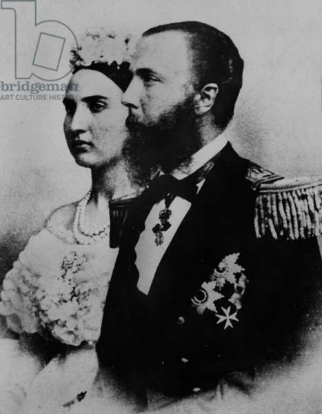 emperor Maximilian of Mexico (Ferdinand-Joseph of Habsbourg) and his wife empress Carlota of Saxe-Coburg-Gotha and of Belgium, here photographed c.1864 ,