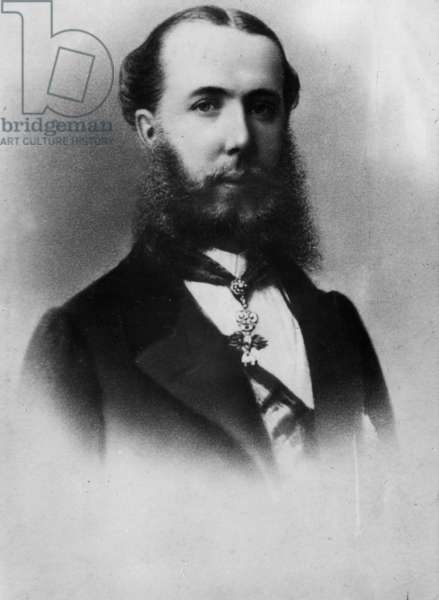 emperor Maximilian of Mexico (1832-1867) Archduke of Austria under the name of Ferdinand-Joseph of Habsbourg , and husband of princessCharlotte of Saxe-Cobourg-Gotha and of-Belgium , c. 1860's