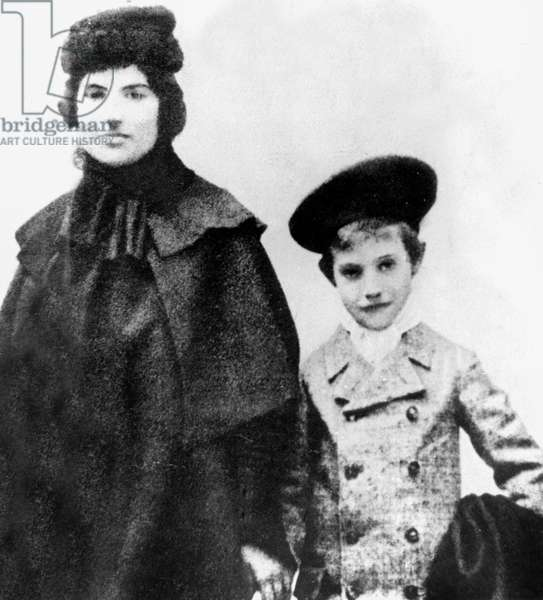 young Maurice Utrillo (1883-1955) with his mother Suzanne Valadon (1865-1938) c. 1895
