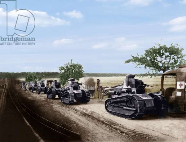 Renault tanks during the 2nd battle of the Marne in 1918