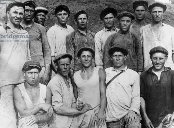 miners of the Dombass region (Ukraine), 20's 30's