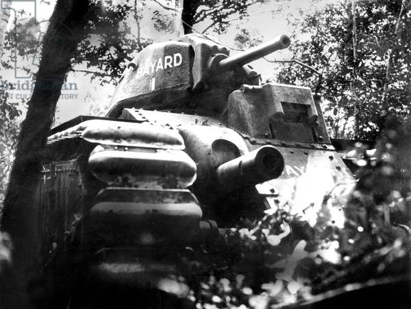Battle of France : French tank during an assault may 1940