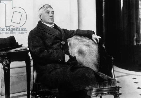 1862 - 1949 Belgian novelist and essayist essayist Belgian essayist and novelist here at the time of the Nobel Prize in 1911