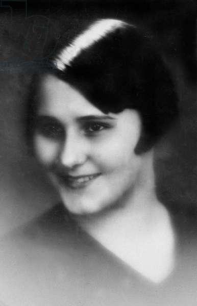 "Colette de Jouvenel called ""Bel Gazou"" (1913-1981), the daughter of writer Colette and Henry de Jouvenel"