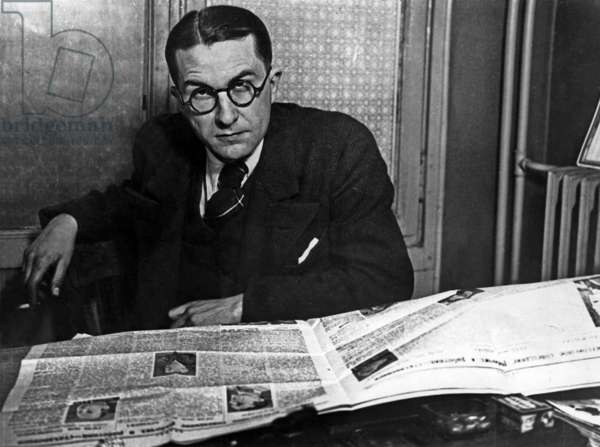 French writer Paul Nizan (1905-1940) in the late 30's